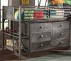 Battery Park Black Steel Twin Junior Loft Bed dresser detail