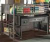 Battery Park Black Steel Twin Junior Loft Bed desk detail