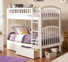 Felicity White Arch Bunk Beds for Kids twin with storage