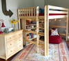 Becks Natural High Queen Loft Bed shown with Bookcases Room