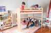 Becks Natural High Queen Loft Bed Kids on Bed and Under Bed Room