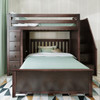 Silas Espresso Twin over Full L Shaped Bunk Beds with Storage Front View Room