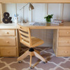 Haylee Natural Loft Bed with Stairs and Desk Detail