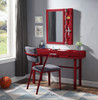 Shipping Container Red Metal Desk Chair lifestyle with desk