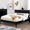 Decker Black Platform Bed king size lifestyle
