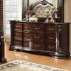 Newport Nine Drawer Dresser Dark Walnut lifestyle