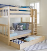 Lingo Natural Twin Storage Trundle in room