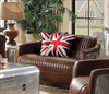 Malcolm Leather and Aluminum Loveseat lifestyle