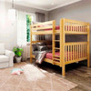 Bennett Natural Queen over Queen Bunk Bed Angled View Room