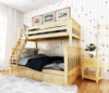 Delaney Natural Bunk Beds twin over full with storage drawers