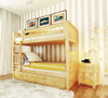 Delaney Natural Bunk Beds twin over twin with storage drawers