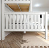 Lily White Twin over Queen Bunk Bed Side View Room