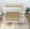 Lily White Twin over Queen Bunk Bed Top View Room