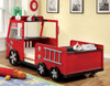 Rescuer Fire Truck Bed back view