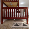 Theo Chestnut Twin over Queen Bunk Bed Side View Room