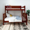 Theo Chestnut Twin over Queen Bunk Bed Front View Room