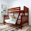 Theo Chestnut Twin over Queen Bunk Bed Angled View Room