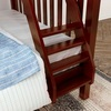 Theo Chestnut Twin over Queen Bunk Bed Ladder Detail Room