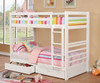 Paisley White Bunk Beds with Storage Twin lifestyle