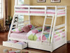 Paisley White Bunk Beds with Storage Twin over Full lifestyle