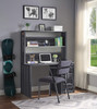Shipping Container Gray Metal Desk Chair shown with Optional Gray Metal Desk