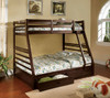 Seymore Dark Walnut Bunk Beds with Storage twin over full lifestyle