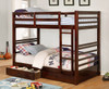Seymore Dark Walnut Bunk Beds with Storage twin size lifestyle