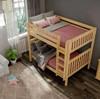 Bennett Natural Full XL Bunk Beds Top View Room