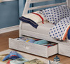 Callum White Sand Twin over Full Bunk Bed with Storage drawer detail