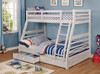 Callum White Sand Twin over Full Bunk Bed with Storage lifestyle