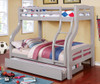 Dunbar Gray Twin over Full Bunk Bed lifestyle with trundle