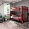 Theo Chestnut Twin XL Bunk Beds Angled View Room
