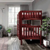 Theo Chestnut Twin XL Bunk Beds Side View Room
