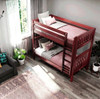 Theo Chestnut Twin XL Bunk Beds Top View Room