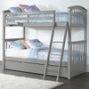 Barrett Arch Gray Twin over Twin Bunk Beds shown with Optional Twin Trundle