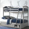 Barrett Arch Gray Twin over Full Bunk Bed shown with Optional Set of 2 Underbed Storage Drawers