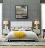 Cayden Grid Tufted Upholstered King Size Platform Bed lifestyle