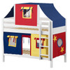 Whistle Stop White Low Twin Size Kids Playhouse Bunk Bed-Panel Ends