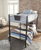 Element Metal Twin over Twin Bunk Beds for Kids front top view