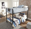 Element Metal Twin over Twin Bunk Beds for Kids right angle view