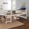 Hazel White Twin Size Low Toddler Loft Bed lifestyle