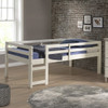 Hazel White Twin Size Low Toddler Loft Bed lifestyle 2