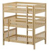 Stella Natural Full Size Triple Bunk Bed