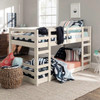Hazel White Twin Size Low Bunk Beds for Kids lifestyle