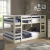 Hazel White Twin Size Low Bunk Beds for Kids lifestyle 2