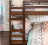 Eldon Walnut Twin Size Low Bunk Beds for Kids ladder detail