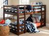 Eldon Walnut Twin Size Low Bunk Beds for Kids lifestyle