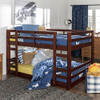 Eldon Walnut Twin Size Low Bunk Beds for Kids lifestyle right angle