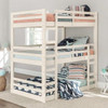 Hazel White Twin 3 Bed Bunk Bed in room