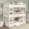 Hazel White Twin 3 Bed Bunk Bed in room 2